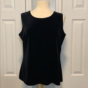 NWT Notations black velour tank top